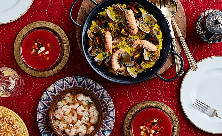 スペイン料理 パエリア タパス