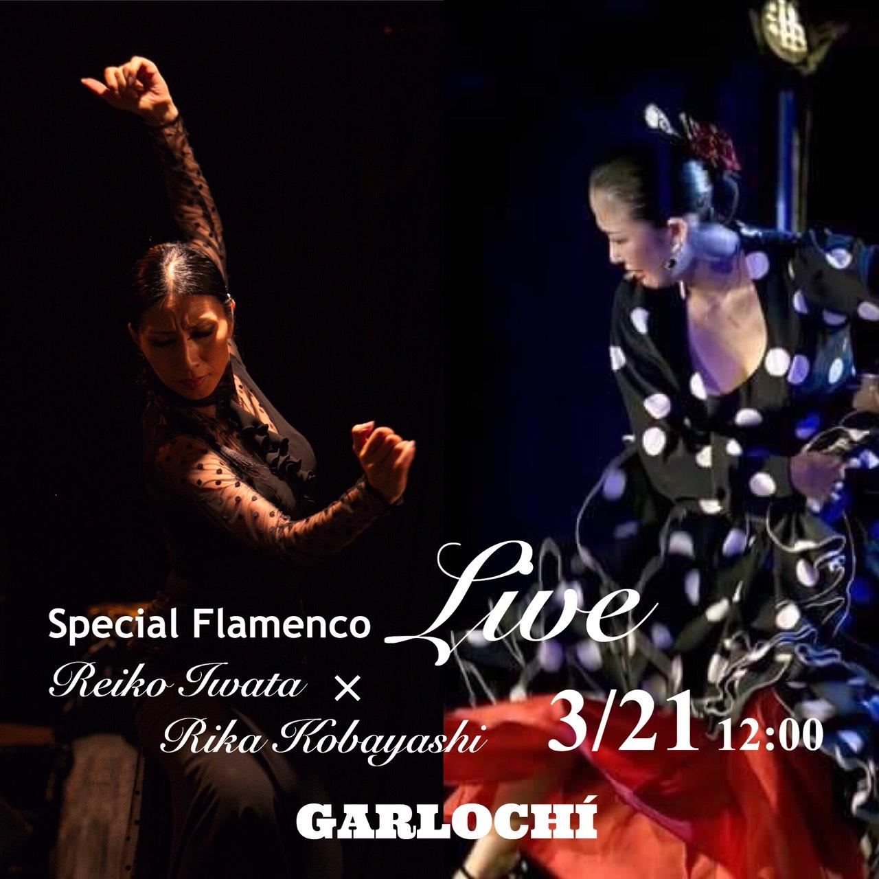ガルロチ企画 Special Flamenco Live 岩田玲子×小林理香 〜Siente y Vibra 〜