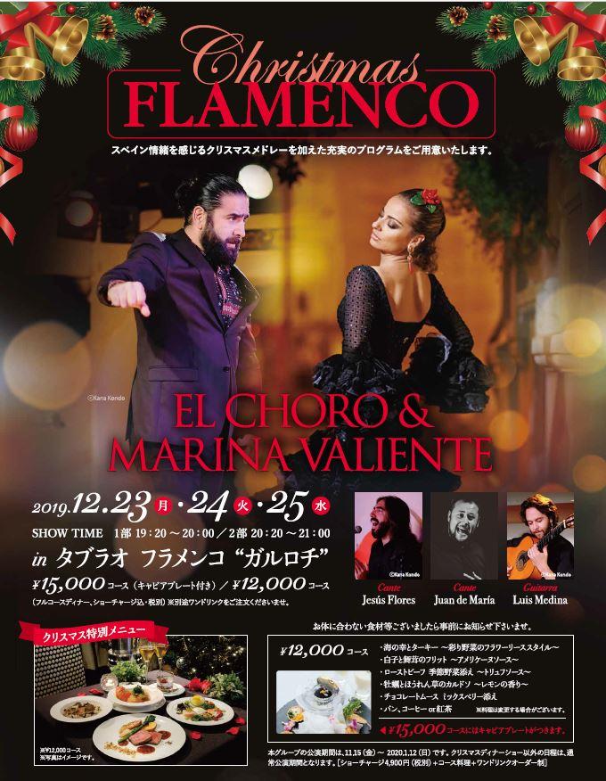 【12/23~12/25】クリスマス&フラメンコスペシャルディナーショー